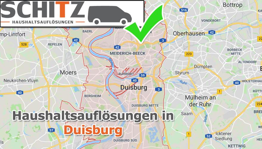 Haushaltsauflösungen und Entrümpelungen auch in Duisburg